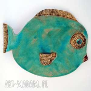 ceramika wielgachna blues, ceramika, płaskorzeźba, zawieszka, ściana