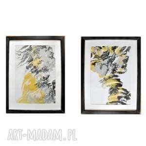 acqua di follia 26, komplet obrazów, abstrakcja, obraz, ręcznie, malowany