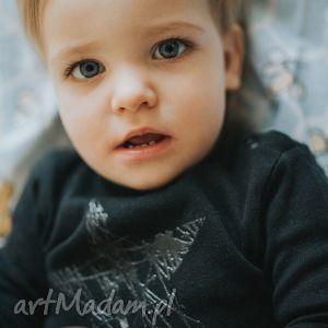 czarne body z długim rękawem dla dzieci i niemowląt - gwiazda, body, gwaizda