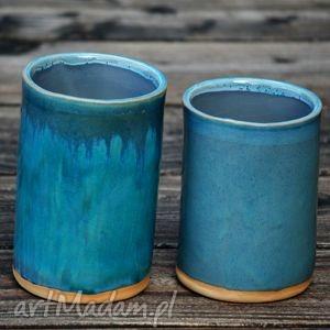 Pojemniki ceramiczne 2szt. - ,pojemnik,organizer,ceramiczny,słój,pudełko,