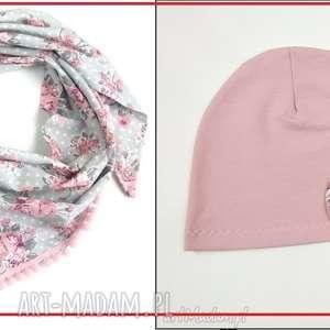 czapki komplet na indywidualne zamówienie, bawełna