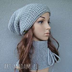 komplet - czapka i szalik wiązany kolory do wyboru, komplet, czapka