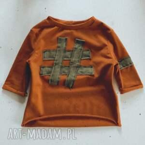 bluzak dziecięca karmel, bluzka dla dziecka, tshirt podkoszulek