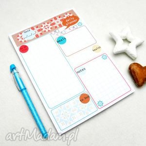 planer dzienny, plan dnia, notes a5, 50 kartek, planer, lista, notes, plan, dnia