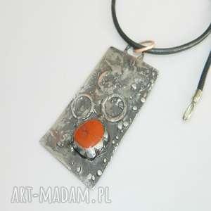 handmade wisiorki miedziany wisior