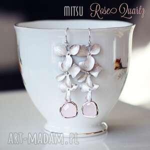 ręczne wykonanie kolczyki kolczyki rose quartz