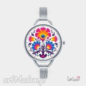 Prezent Zegarek z grafiką FOLKLOR, folk, ludowe, prezent, etniczne, ludowy, czas