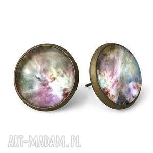 orion nebula - kolczyki sztyfty egginegg - wkrętki, kosmos, galaxy