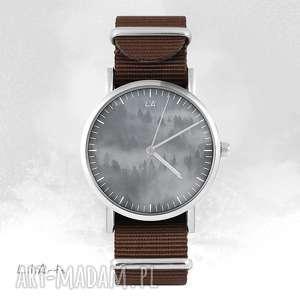 hand-made zegarki zegarek - wild life brązowy, nato