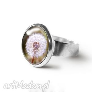 pierścionek - retro dmuchawiec
