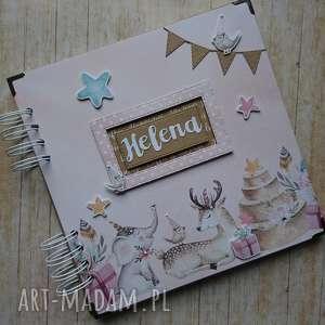 album - różowa przyjaźń, narodziny, urodziny, słonik, prezent, sesja, wyjątkowy