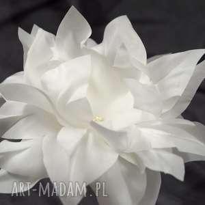 Ślubny kwiat, jedwab, swarovski, perły, ozdoba, ślub
