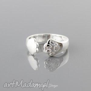 Prezent Regulowany pierścionek - odcisk łapki, pierścionek, łapka, odcisk, kot, pies