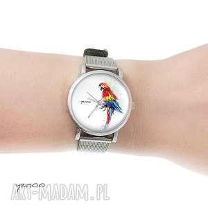 Prezent Zegarek, bransoletka - Czerwona papuga mały, zegarek, bransoletka,