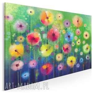 obraz na płótnie - kwiaty ogród 120x80 cm 39601, kwiaty, ogród, rośliny
