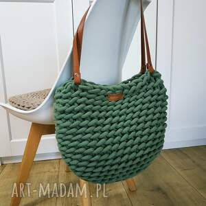 na ramię torba boho, ze sznurka, boho, zielona