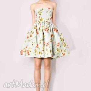 sukienka gorsetowa w kwiaty, sukienka, gorset