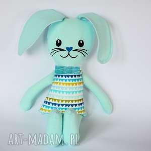 Zając Kicak - Teo (haft) 45 cm, królik, zając, maskotka, chłopiec, wielkanoc