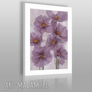 handmade obrazy obraz na płótnie - fioletowy bukiet - 50x70 cm (02601)