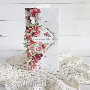 vairatka-handmade kartka ślubna w pudełku 871, na ślub, prezent