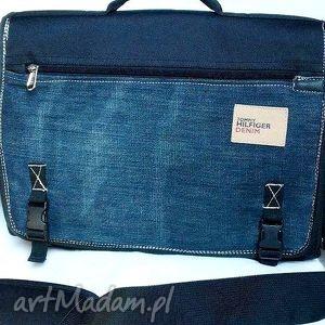 teczka na laptopa, torba, teczka, laptop, recykling, jeans, dokumenty, pod choinkę