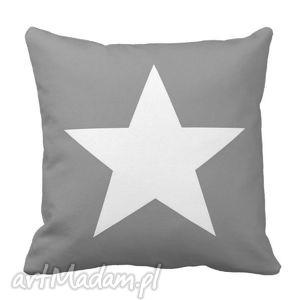 ręcznie robione poduszki poduszka szara gwiazda home passion 6169