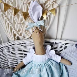 pani królik, przytulanka, prezent, dziecka, urodziny