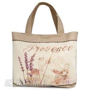 hand made na ramię lawendowa torebka, torba
