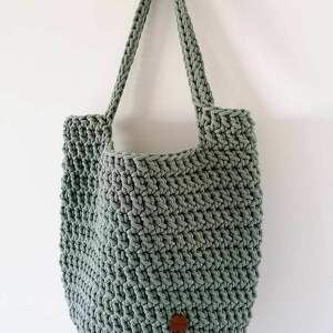 klasyczna torba szydełkowa na zakupy, zakupy