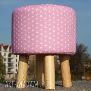 handmade pufy pufa różowe gwiazdki - 36 cm