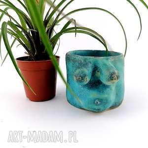 ceramika osłonka na sukulenty, odłonka, prezent, doniczka, dekoracje