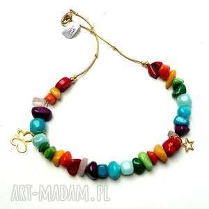 bajecznie kolorowy naszyjnik boho - boho, kolorowy, ekskluzywny, efektowny, prezent