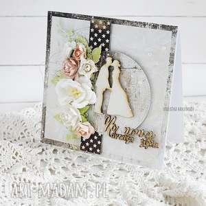 kartka ślubna w pudełku 423 vairatka handmade