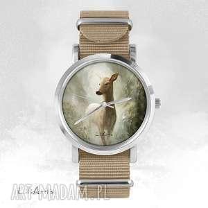 Prezent Zegarek, bransoletka - Sarna beżowy, nato, zegarek, bransoletka, nato