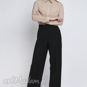 spodnie, sd111 czarny, szerokie, szwedy, eleganckie, sportowe, komunia