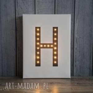 świecąca litera dekoracja lampa prezent obraz, litera, świecąca, podświetlana, obraz