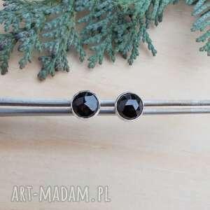 JewelsbyKT! Lśniące czernią drobinki - kolczyki