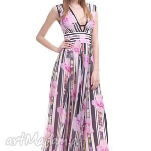 sukienki sukienka anbar, wesele, sukienka, długa, zamek