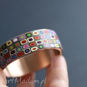 kolorowa mozaika, bransoleta, kolorowe, bransoletki, tęczowe, geometryczne