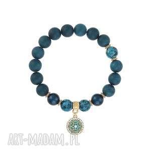bransoletka z jadeitów - earth energy - perła, koło prezent