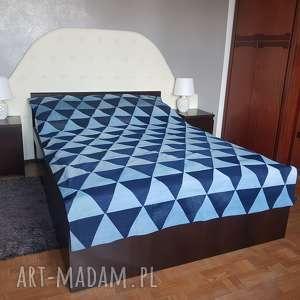 #1 narzta na łóżko denim stylowa zerowaste, narzuta, zero waste, denim, narzuta