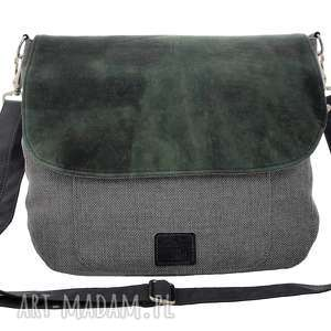 duża listonoszka petrol, torba, torebka, torba na ramię, listonoszka, prezent