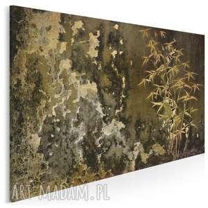 obraz na płótnie - bambus grunge 120x80 cm 11001, banbus, grunge, rośliny