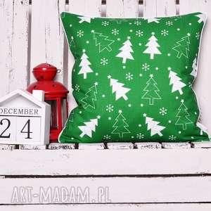 Pomysł na prezenty świąteczne. Poduszka xmas christmas tree green