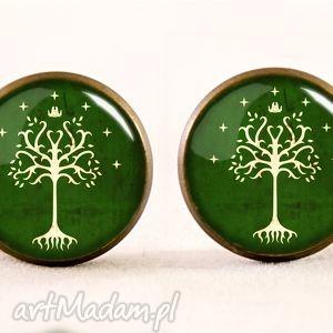 egginegg drzewo gondoru - kolczyki wkrętki - pierścieni, władca