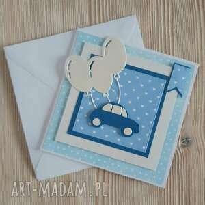 scrapbooking kartki kartka z autkiem do personalizacji, auto, urodziny