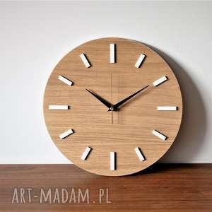 30 cm, zegar ścienny DĄB, nowoczesny zegar, jasnedrewno, drewniany, dębowy