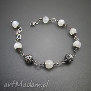 irart kule bali z kamieniem księżycowym, srebro, księżycowy, bransoletka biżuteria