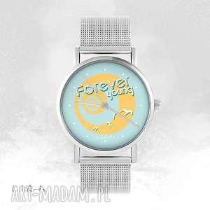 Prezent Zegarek, bransoletka - Forever young metalowy, zegarek,