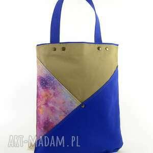 handmade na ramię torba na ramię serenity blue